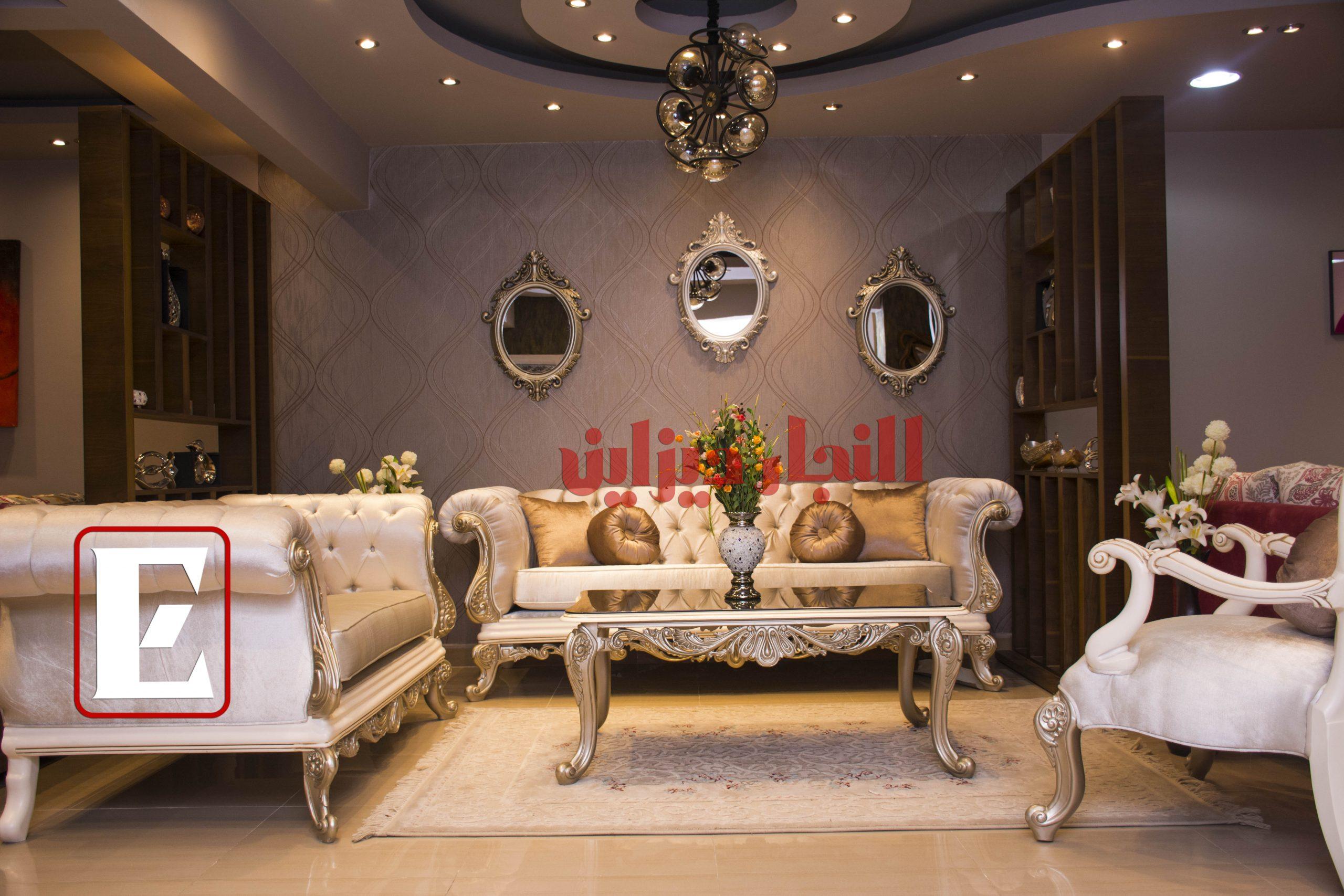 تصميم غرف المعيشة الكلاسيك